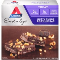 Atkins Endulge Nutty Fudge Brownie Bars 5 Count