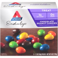 Atkins Endulge Chocolate Peanut Candy Packs 5 Count