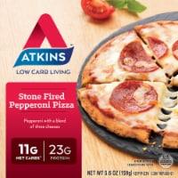 Atkins Stone Fired Pepperoni Pizza - 5.6 oz