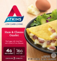 Atkins Ham & Cheese Frozen Omelets