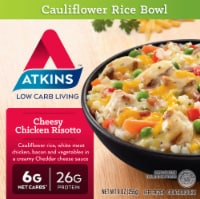 Atkins Cheesy Chicken Risotto Cauliflower Rice Bowl
