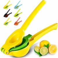 Zulay Kitchen Premium Quality Metal Lemon Lime Squeezer - Manual Citrus Press Juicer