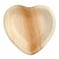 Eco-Gecko 7  HEART Palm Leaf plate / 100-ct. case - 100-ct. case