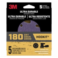 3M  Hookit  5 in. Ceramic  Hook and Loop  Ultra Durable  Sanding Disc  180 Grit Extra Fine  5 - Count of: 1