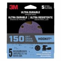 3M  Hookit  5 in. Ceramic  Hook and Loop  Ultra Durable  Sanding Disc  150 Grit Very Fine  5 - Count of: 1