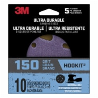 3M  Hookit  5 in. Ceramic  Hook and Loop  Ultra Durable  Sanding Disc  150 Grit Very Fine  10 - Count of: 1