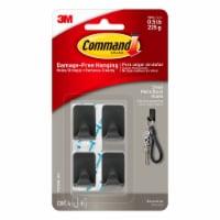 Command™ Small Hooks - Matte Black - 4 pk