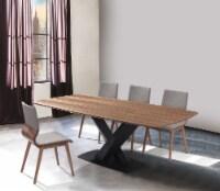 Everett Mid-Century Walnut Wood 5 Piece Dining Set - 1