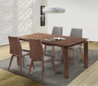 Treviso Mid-Century Walnut Wood 5 Piece Dining Set - 1