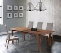 Parker Mid-Century Walnut Wood 5 Piece Dining Set - 1