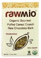 Windy City Organics Rawmio Organic Gourmet Raw Puffed Cereal Crunch Chocolate Bark