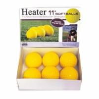 Heater PMB34 11 in. Pitching Machine Softballs, Dozen - 1