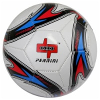 Shelter 13593 Red White Blue & Gold Trim Perrini Soccer Ball - Size 5