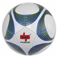Shelter 13595 White & Yellow Dotted Trim Perrini Soccer Ball - Size 5 - 1