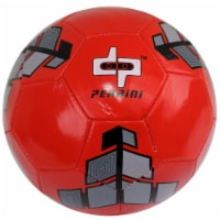 Shelter 13596 Red & Grey Trim Perrini Soccer Ball - Size 5 - 1