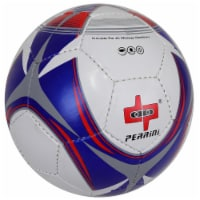 Shelter 13620 All Weather Indoor Outdoor Perrini Soccer Ball, Red, Blue & White - Size 5