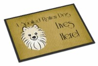 Pomeranian Spoiled Dog Lives Here Indoor or Outdoor Mat 18x27