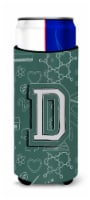 Letter D Back to School Initial Ultra Beverage Insulators for slim cans - Slim Can