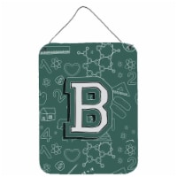 Letter B Back to School Initial Wall or Door Hanging Prints - 16HX12W