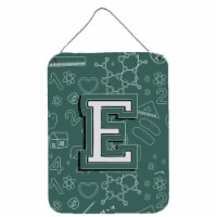 Letter E Back to School Initial Wall or Door Hanging Prints - 16HX12W