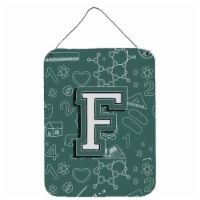 Letter F Back to School Initial Wall or Door Hanging Prints - 16HX12W
