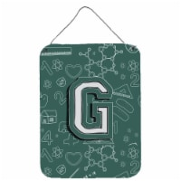 Letter G Back to School Initial Wall or Door Hanging Prints - 16HX12W