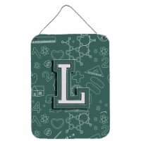Letter L Back to School Initial Wall or Door Hanging Prints