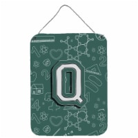 Letter Q Back to School Initial Wall or Door Hanging Prints - 16HX12W