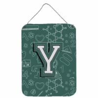 Letter Y Back to School Initial Wall or Door Hanging Prints - 16HX12W