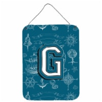 Letter G Sea Doodles Initial Alphabet Wall or Door Hanging Prints