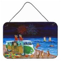 Corgi Beach Party Bus Fireworks Wall or Door Hanging Prints - 8HX12W