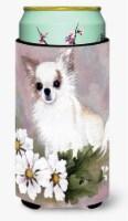 Chihuahua White Flowers Tall Boy Beverage Insulator Hugger - Tall Boy
