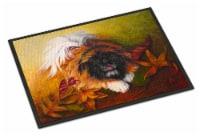Carolines Treasures  MH1046JMAT Pekingese Boogie Indoor or Outdoor Mat 24x36 - 24Hx36W