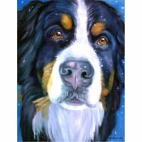 Luca the Bernese Mountain Dog Flag Canvas House Size - House Size