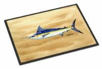 Swordfish on Sandy Beach Indoor or Outdoor Mat 18x27 - 18Hx27W