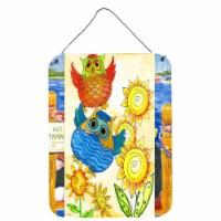 Carolines Treasures  PJC1033DS1216 Celebrate Owl Wall or Door Hanging Prints - 16HX12W