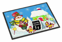 Candy Canes for Sale Snowman Indoor or Outdoor Mat 18x27 - 18Hx27W