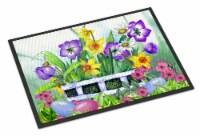 Carolines Treasures  PJC1099MAT Finding Easter Eggs Indoor or Outdoor Mat 18x27 - 18Hx27W