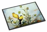 Carolines Treasures  PJC1112MAT Joyful Morning Birds Indoor or Outdoor Mat 18x27 - 18Hx27W