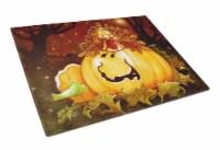 Somebody to Love Pumpkin Halloween Glass Cutting Board Large - 12Hx15W