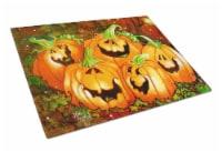 Such a Glowing Personality Pumpkin Halloween Glass Cutting Board Large - 12Hx15W