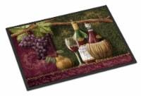 Carolines Treasures  PTW2044MAT Wine Chateau Roma Indoor or Outdoor Mat 18x27