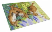 Carolines Treasures  ASA2131LCB Fox Cubs Glass Cutting Board Large