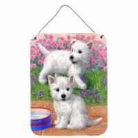 Carolines Treasures  ASA2117DS1216 Westie Pups Wall or Door Hanging Prints
