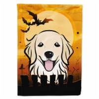 Carolines Treasures  BB1763CHF Halloween Golden Retriever Flag Canvas House Size