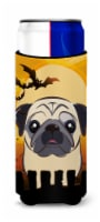Halloween Fawn Pug Ultra Beverage Insulators for slim cans - Slim Can