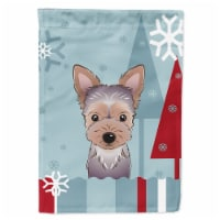 Carolines Treasures  BB1728GF Winter Holiday Yorkie Puppy Flag Garden Size
