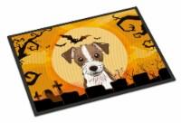 Halloween Jack Russell Terrier Indoor or Outdoor Mat 24x36 - 24Hx36W