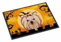 Halloween Yorkie Yorkishire Terrier Indoor or Outdoor Mat 24x36