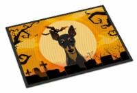 Carolines Treasures  BB1798JMAT Halloween Min Pin Indoor or Outdoor Mat 24x36 - 24Hx36W